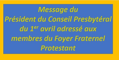 message du 1er avril