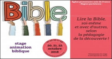 Stage d'animation biblique - octobre 2018